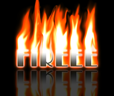 Reflected Fire Text Photoshop Tutorial